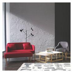 FINO Charcoal fabric 2 seater sofa