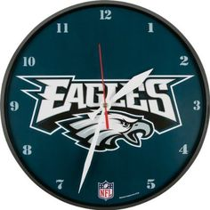 Philadelphia Eagles Round Clock by WinCraft. $24.99. Always know when its game time with this Philadelphia Eagles Round Clock. This wall clock comes ready to hang and is great for any room.