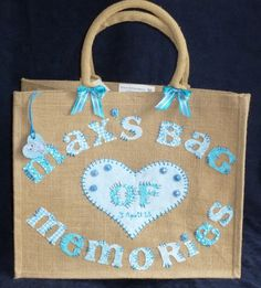 Bespoke Personalised Jute Bag - Baby Memory / Keepsake Bag