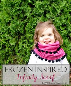FROZEN Toddler Infinity Scarf Ruffles and Rain Boots