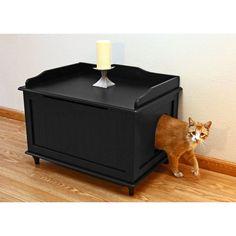 Have to have it. Designer Catbox Litter Box Enclosure - $144.95 @hayneedle