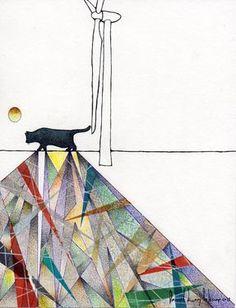 """Saatchi Online Artist daniel levy; Drawing, """"solitude of colors"""" #art"""