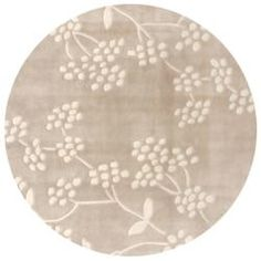 @Overstock - This Alexa rug is crafted with easy-to-clean synthetic fiber yarn that prevents shedding, unlike wool. This area rug features modern shades of beige and ivory.http://www.overstock.com/Home-Garden/Handmade-Alexa-Pino-Beige-Spring-Season-Floral-Rug-6-Round/5535541/product.html?CID=214117 $150.99