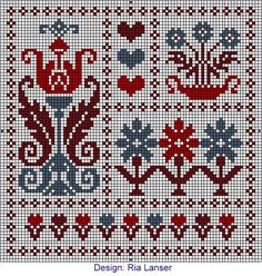 Design: Ria Lanser - Ria has a lot of beautiful designs! I must stitch all of them!