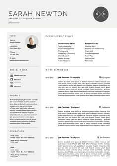 Resume Template And Cover Letter Template For Word | DIY Printable 4 Page |  The   Cv And Cover Letter