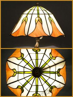 Louis Comfort Tiffany Studios New York Bell Flower table lamp, handcrafted by Wieniawa-Piasecki Workshop www.e-witraze.pl