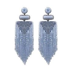The perfect finishing touch to any outfit. Our handmade Jody Earrings are, without doubt, true statement accessories. Fringe Earrings, Beaded Earrings, Statement Earrings, Earrings Handmade, Hoop Earrings, Seed Bead Jewelry, Jewelry Box, Jewelry Making, Month Gemstones