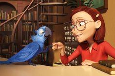 """Scream ""Water for Elephants,"" Rio,"" and ""Kill the Irishman"": Weekly Movie Diary Film Rio, Rio Movie, Film D'animation, Disney Animation, Disney Pixar, Madagascar, Parrot Cartoon, 30 Day Art Challenge, Blue Macaw"