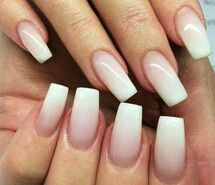 Squared ombre nails Squared ombre nails Related Posts Sparkle-Framed Ombre White and blue ombre nails Wedding ombré nails. Pink and white DIY: Ombre Nails 10 Simple Nail Art Tutorials for the Season 11 Outdoor Activities to Keep Your Kids Busy This Summer French Nails, Faded French Manicure, French Manicure With A Twist, White Manicure, French Manicures, Gorgeous Nails, Pretty Nails, Gorgeous Makeup, Hair And Nails