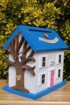 Wedding Card Box Birdhouse with Custom Banner