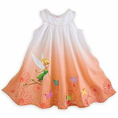 Disney Tinker Bell Woven Dress for Girls | Disney StoreTinker Bell Woven Dress for Girls - Her imagination will fly her off to Pixie Hollow with this Tinker Bell Woven Dress for Girls. The Disney Fairy hovers with the colorful 3-D butterflies fluttering among the flowers on this cotton dress featuring a dramatic ombre design.
