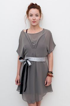 Lily Multi Way Dress / Grey Chiffon Drape Dress / Party Dress / Day Dress