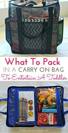 Tips for how to entertain a toddler on a flight. How to pack the perfect carry on bag (including an in-flight entertainment case) to keep your toddler occupied and happy. FREE PRINTABLE CHECKLIST | traveling with kids | packing for a toddler | top tips for traveling with a toddler.