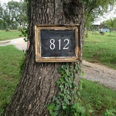 Saw this during my morning run. A picture frame address plaque.