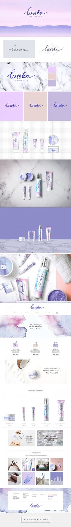 Lasska Skincare Packaging by Nadia Ruseva Skincare Packaging, Beauty Packaging, Brand Packaging, Cosmetic Logo, Cosmetic Design, Branding Agency, Business Branding, Packaging Design Inspiration, Graphic Design Inspiration