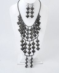Hanging From the Chandelier Large Black Statement Necklace-$34-Find hot fashion jewellery and statement jewlry at Strike Envy. #jewellery #jewlry