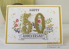 MaudiePapercraft: Stampin' Up! Number of Years card