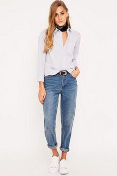 """Urban Outfitters – Hemd """"Maybe"""" mit Knopfleiste - Urban Outfitters"""