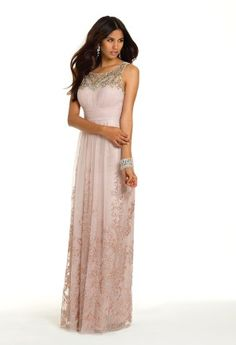 Glitter Illusion Neck Long Prom Dress from Camille La Vie and Group USA