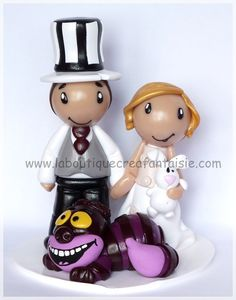 Tiny wedding cake topper Tim Burton    www.laboutiquecreafantaisie.com