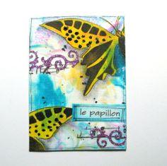 ATC Le Papillon.  Theme: Glitter