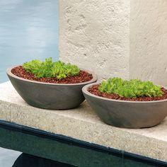 Crescent Garden Modern Delano Oval Bowl