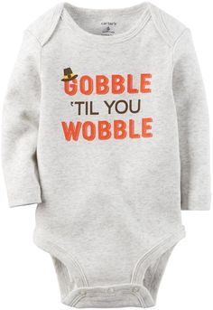 Carter's Unisex Baby Bodysuits, Heather, New Born. Amazon.com. SO CUTE for Baby's FIRST THANKSGIVING!!! (affiliate link)
