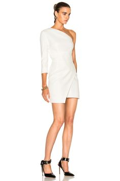 Image 3 of Alexandre Vauthier Cady One Shoulder Dress in Off White