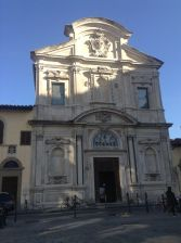 Facciata di Ognissanti. Firenze