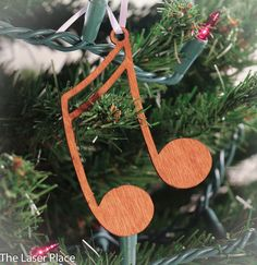Music Ornament made from Music Symbols by 5thP on Etsy, $5.50