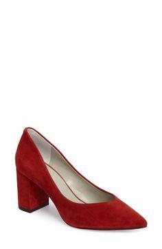 Saffy Block Heel Pump In Rooster Suede Pumps, Women's Pumps, Red Block Heels, Toe Shape, Nordstrom Dresses, Kitten Heels, My Style, Boots, Slingbacks