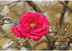 Fabric Flower Broach by Jackielee