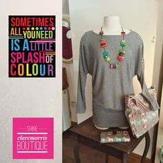Great top accessorised with great colour necklace