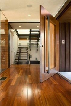extra large wood and glass front door