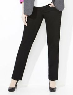 Our classic, five-pocket Right Fit jean seamlessly transitions from desk to dinner. Curvy fit is a slimming style for those who are fullest at the hips. Premium stretch denim offers superior recovery. The waist tab insets stretch to conform to your figure. Includes a zip opening with a flourish-embossed button closure. Finished with a timeless straight leg. By blending technology with style, we have custom-designed the ultimate plus size jeans with your shape in mind. catherines.com