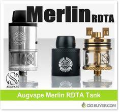 Augvape Merlin RDTA Tank – $19.99: http://www.cigbuyer.com/augvape-merlin-rdta-tank/ #ecigs #vaping #augvape #augvapeMerlin #merlinRDTA #vapelife #vapedeals