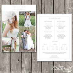 Pricing Guide Template - Price Sheet by Stillbrook Designs on Creative Market