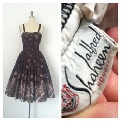 50s Alfred Shaheen Hawaiian Dress / 50s by CheshireVintageShop
