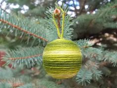 Ready made Christmas decoration – textile ball