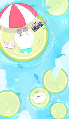 Watermelon Illustration, Cute Illustration, Wallpaper Computer, Iphone Wallpaper, Kawaii Drawings, Cute Drawings, Kawaii Cute, Kawaii Anime, Cute Walpaper