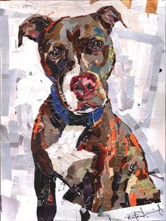Dog Collage Portrait- Moose by  Maritza Hernandez