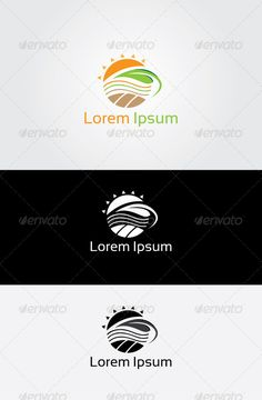 Buy Sun Farm Logo by priyadziner on GraphicRiver. Sun Farm Logo Template What is included? - Adobe PDF Document - Font link in Hel. Logo Design Template, Logo Templates, Sun Logo, Farm Logo, Green Logo, Website Template, Lorem Ipsum, Nature Logos, Potato Slices