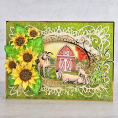 Heartfelt Creations - Goats and Sunflowers