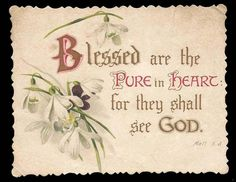 D20 - VICTORIAN RELIGIOUS MOTTO CARD - SCRIPTURE QUOTE - FLORAL SPRAY