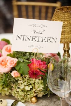 wedding reception table number idea; Pepper Nix Photography