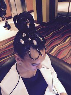 High bun ballroom hair