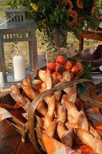 "A basket of freshly baked baguettes ""Pan Francis para el Posole o Menudo"