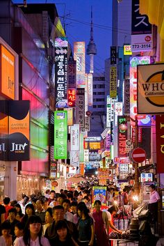 Myeongdong , Seoul (Get there: Take the Seoul subway to Myeongdong Station, Line 4, Exit 6) Pretty much the number 1 tourist attraction in Seoul, Myeongdong is a shoppers heaven. With brand names like Zara, H. DONE