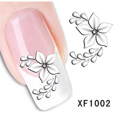 RayLineDo 5X 3D Nail Art Tips Stickers False Nail Design Manicure Decals Nail Art Water Nail Art Decal / Tattoo / Sticker >>> Read more at the image link. (This is an affiliate link) #FootHandNailCare