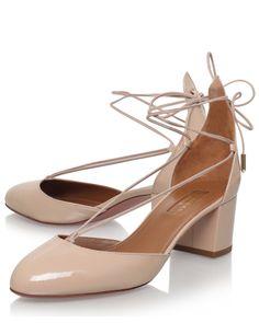 Aquazzura | Beige Nude Patent Leather Alexa 50 Pumps | Lyst Shoe Lyst...